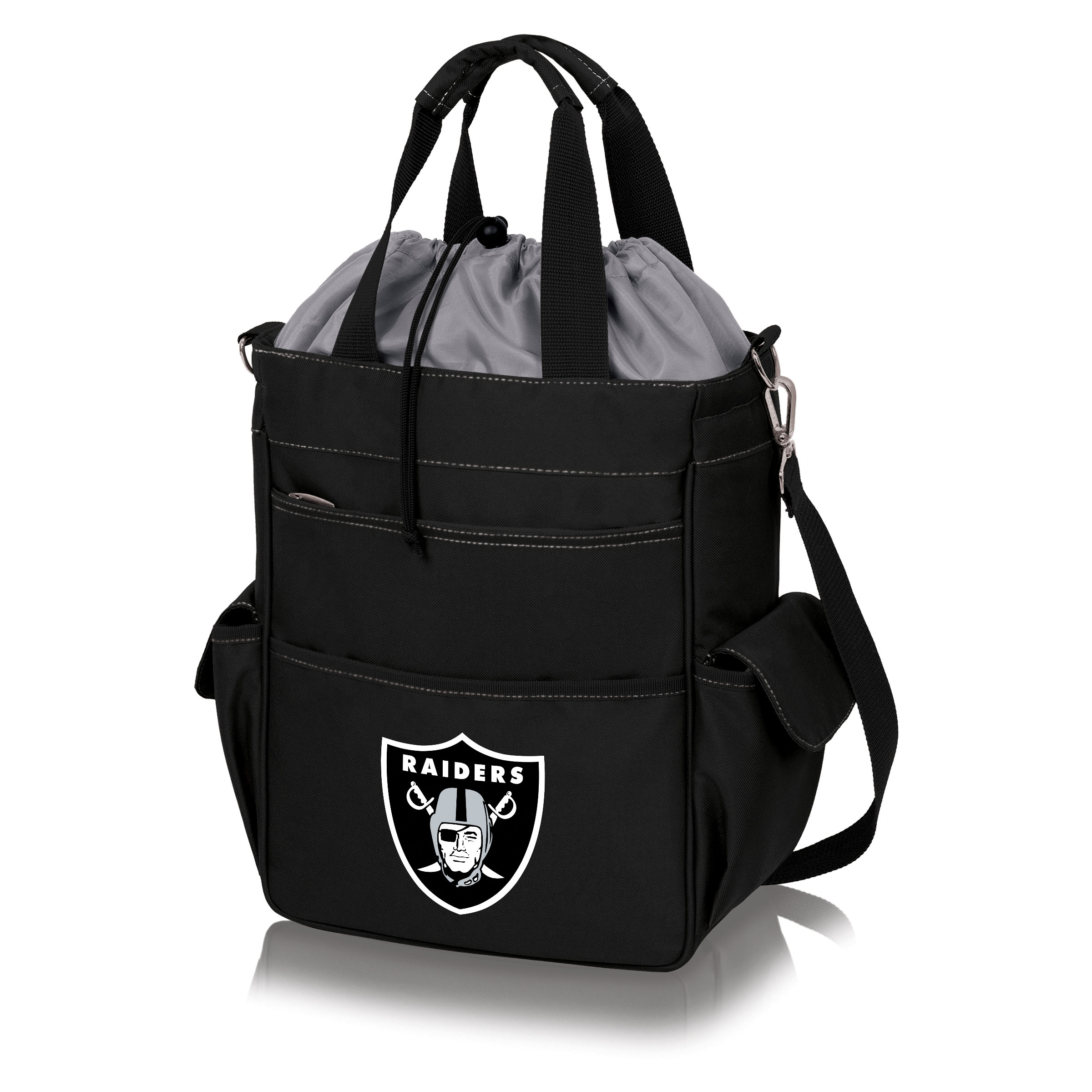 Oakland Raiders Activo Cooler Tote - Black - No Size