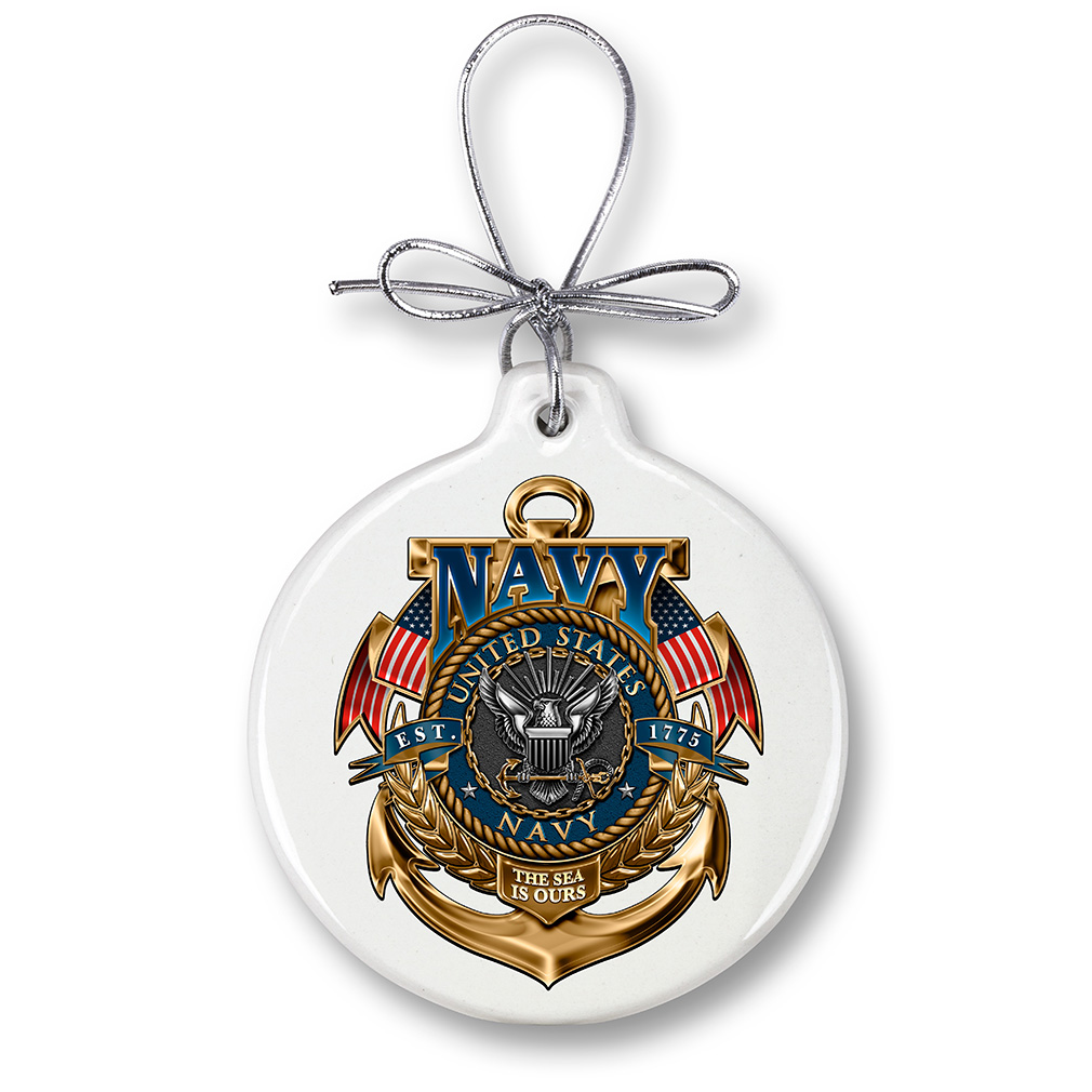 US Navy The Sea is ours-Christmas Tree Ornaments