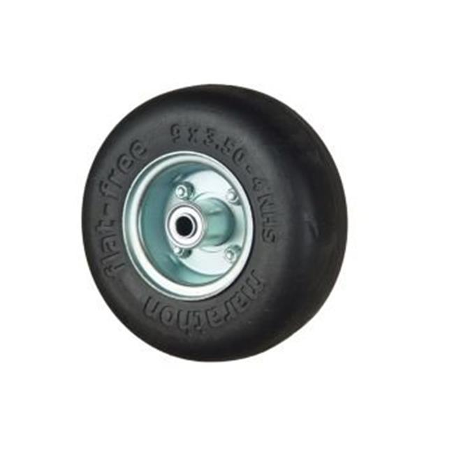 Marathon Industries 01014 9x3.50-4 in. Flat-Free Tire with Smooth Tread