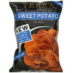 Terra Krinkle Cut Sweet Potato Sea Salt Potato Chips, 6 oz (Pack of 12)