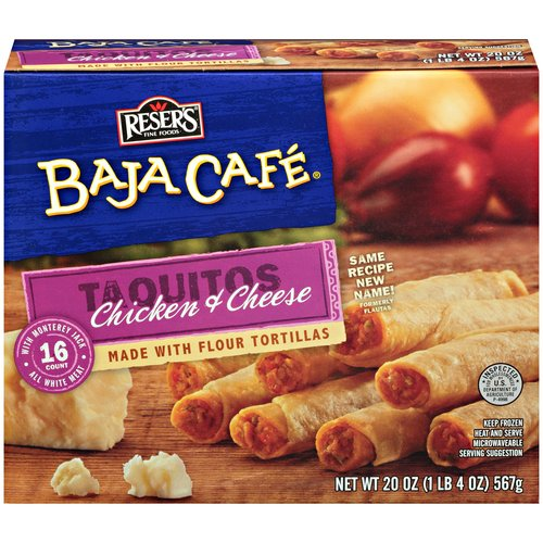 Baja Cafe Chicken & Cheese Taquitos, 16 count, 20 oz