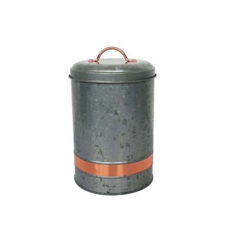 Better homes gardens galvanized large canister for Better homes and gardens canisters