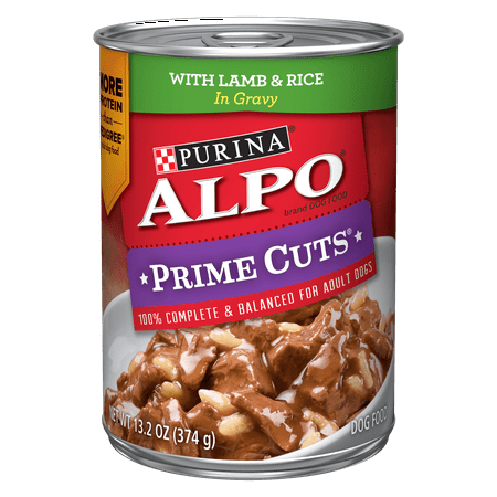 Purina ALPO Gravy Wet Dog Food, Prime Cuts With Lamb & Rice in Gravy - 13.2 oz. (Best Gravy For Lamb)