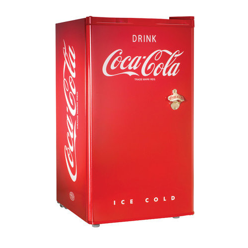 Nostalgia Electrics Coca-Cola Series 3.2 cu. ft. Compact Refrigerator with Freezer