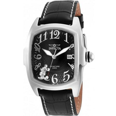c8a7018e2da Invicta - 25022 Men's 'Disney Limited Edition' Quartz Stainless and Leather  Watch - Walmart.com