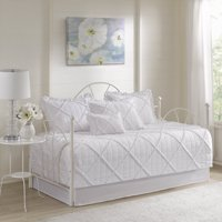 Home Essence Robin 6 Piece Quilted Pleated Daybed Set