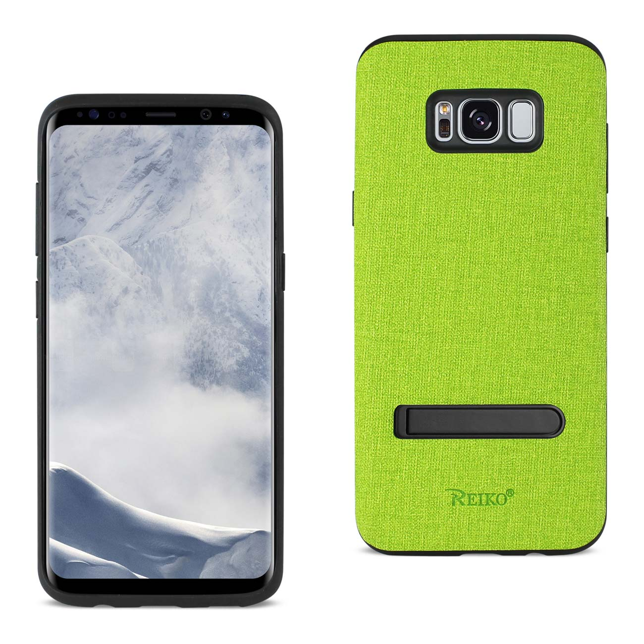 REIKO SAMSUNG GALAXY S8/ SM DENIM TEXTURE TPU PROTECTOR COVER IN GREEN