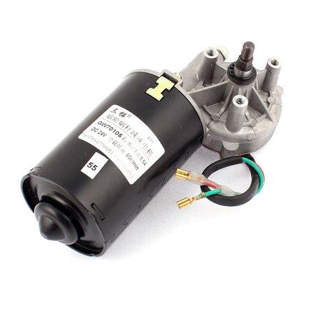 Dc 24v 52rpm shaft high torque right worm gear motor speed for 24v dc motor high torque
