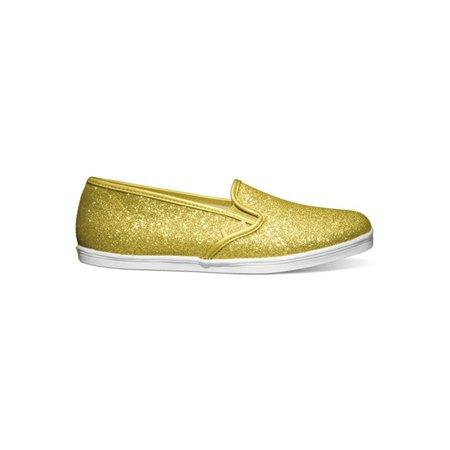 Vans Unisex Lo Pro Glitter Sneakers glittergoldtruewhite M3.5 W5 - Sparkly Silver Vans