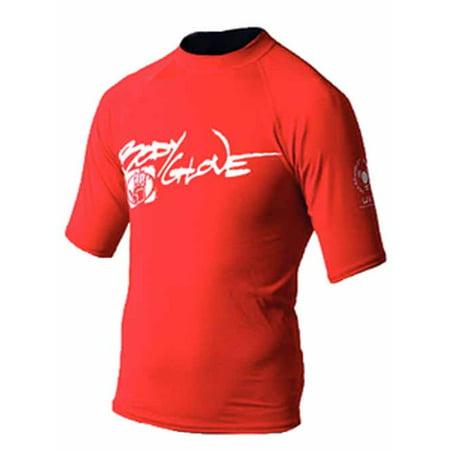 Body Glove 1210J6NN  1210J6NN; Basic Junior Short Sleeve Lycra Rash Guard Rashguard 6 Red