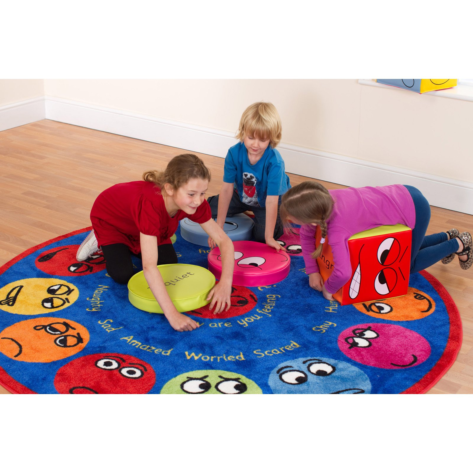 Kalokids Emotions Interactive Circular Carpet