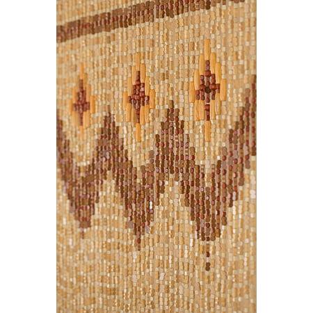 Beadedstring Wood Bamboo Beaded Curtain 45 Strands 77 High