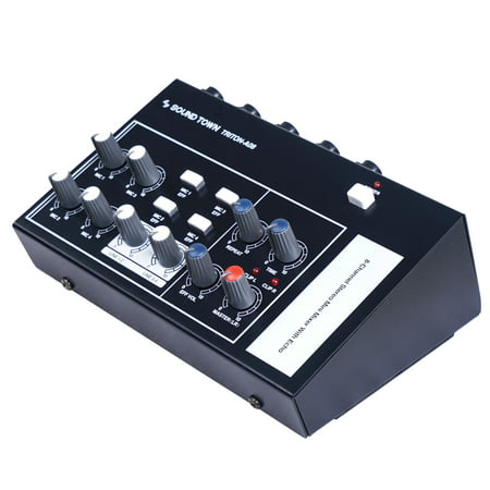 Sound Town 8-Channel Mono Stereo Karaoke Mini Mixer with 1/4