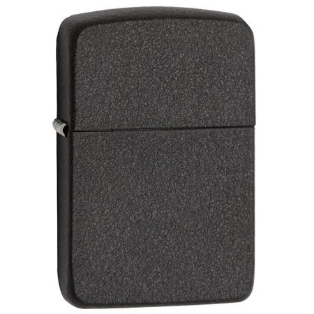 Zippo Pewter Emblem Black Crackle - Small Handheld Zippo Windproof Zippos Lighter For Cigarette Black Crackle