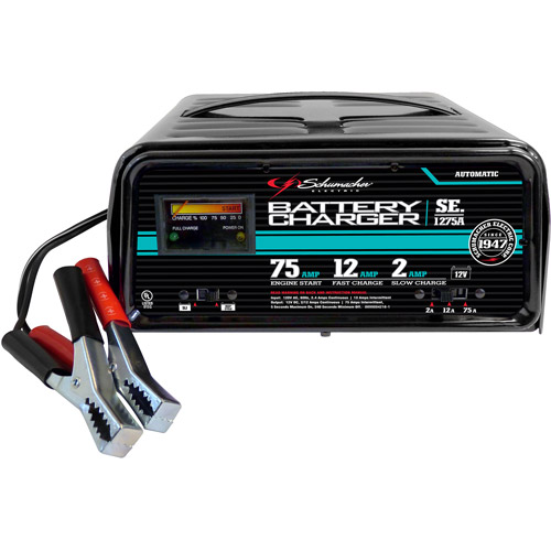Schumacher 75/12/2 Amp Fully Automatic Starter/Charger with 2 LEDs
