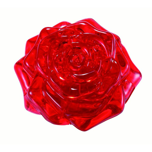 Standard 3D Crystal Puzzle - Rose (red)