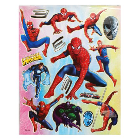 Marvel's Spider-Man and Villains Actions Pose Sticker Set (16 - Spiderman Pose
