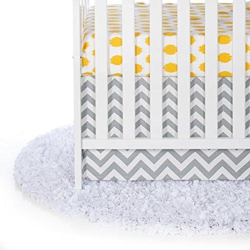 Glenna Jean Swizzle Yellow 2 Piece Baby Crib Bedding Star...