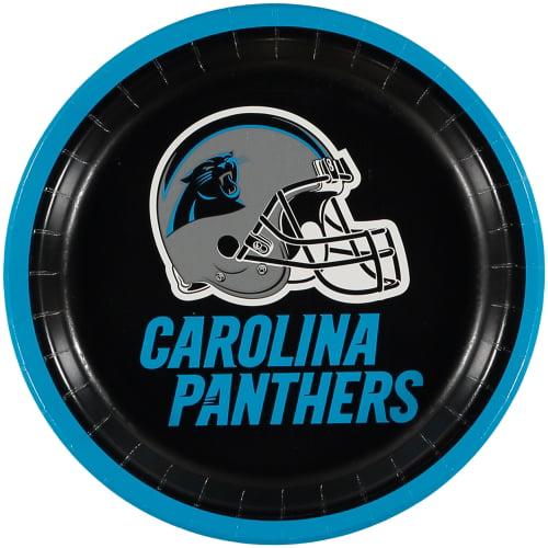 Carolina Panthers 8-Pack Lunch Plate Set - No Size