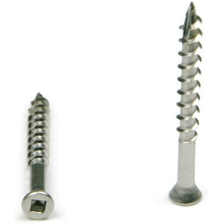 Square Drive Deck Screws Trim Head 305 Stainless Steel Type 17 Point - #7 x 2-1/4