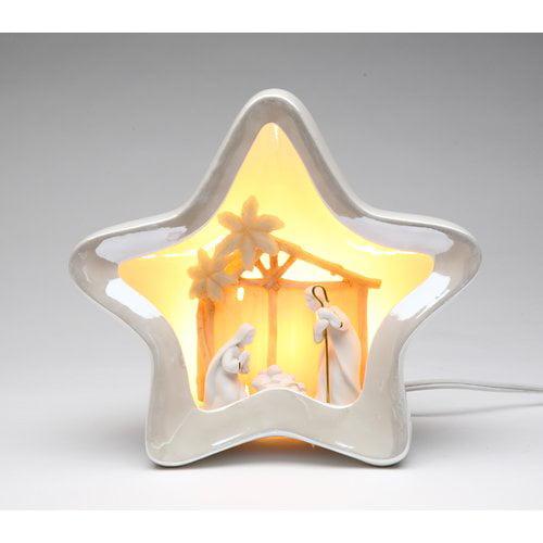 Cosmos Gifts Star Shape Nativity Night Light