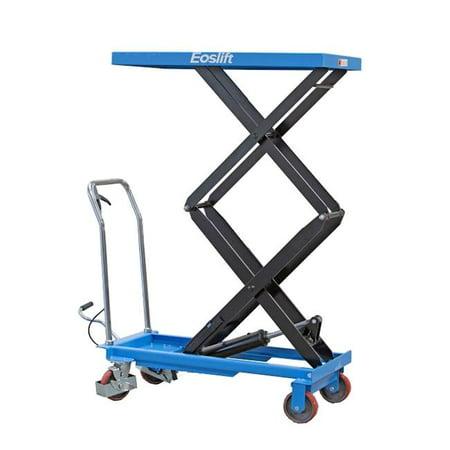 Scissor Lift Table - Eoslift TAD35 Dual Scissor Lift Table Cart, 17 x 21 x 40 in.