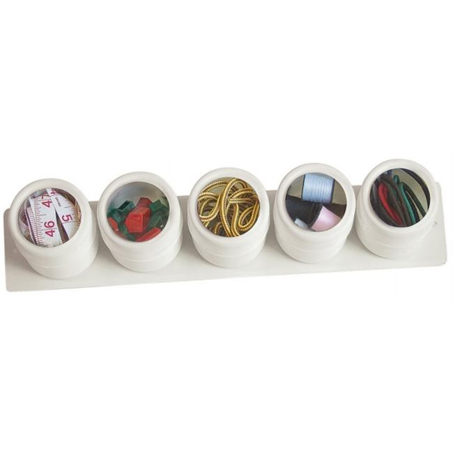 Lipper International 5 Piece White See & Store Canisters  6405W