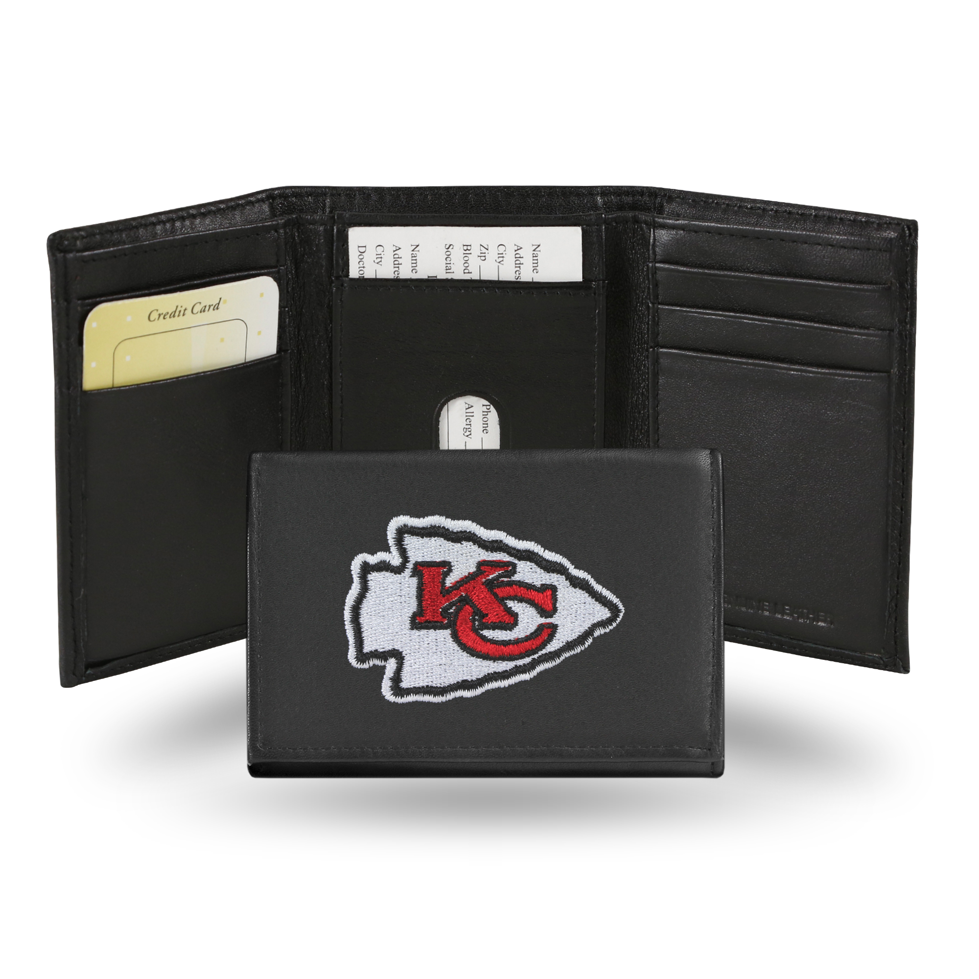 NFL - Men's Kansas City Chiefs Embroidered Trifold Wallet