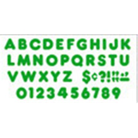Ready Letters 3 Inch Casual Green ()