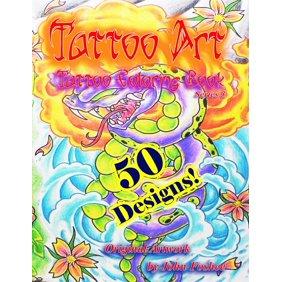 Tattoo Art Coloring Book Paperback