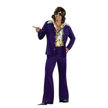 Purple Leisure Suit Deluxe Adult Halloween - Leisure Suit Costume