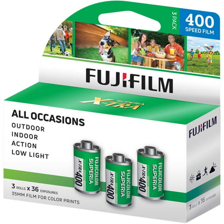 3 Pack Fuji Superia X-TRA CH ISO 400 36 Exp. 35mm Color Film, 108