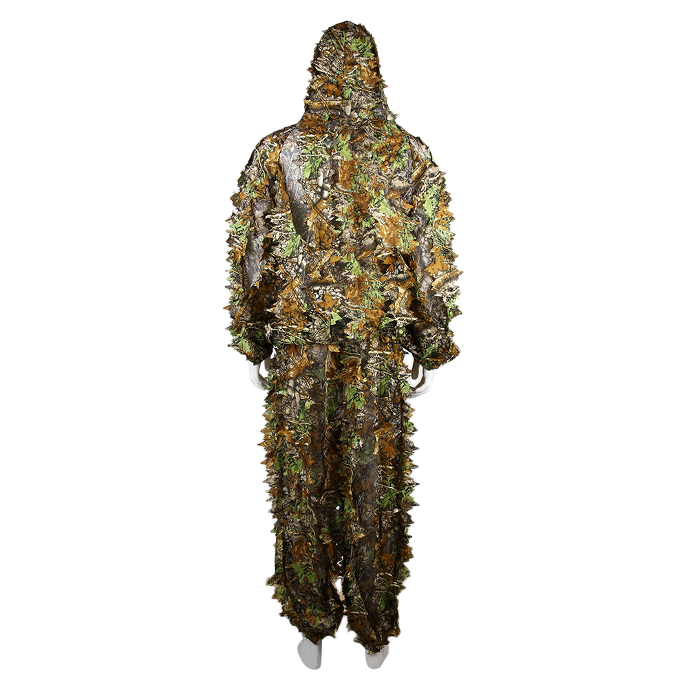 Utility Hunting Camo Camouflage Clothing Leafy Woodland Hunting Camo Jungle Suit Set 3D Leafy Ghillie Suit For Hunting by konxa