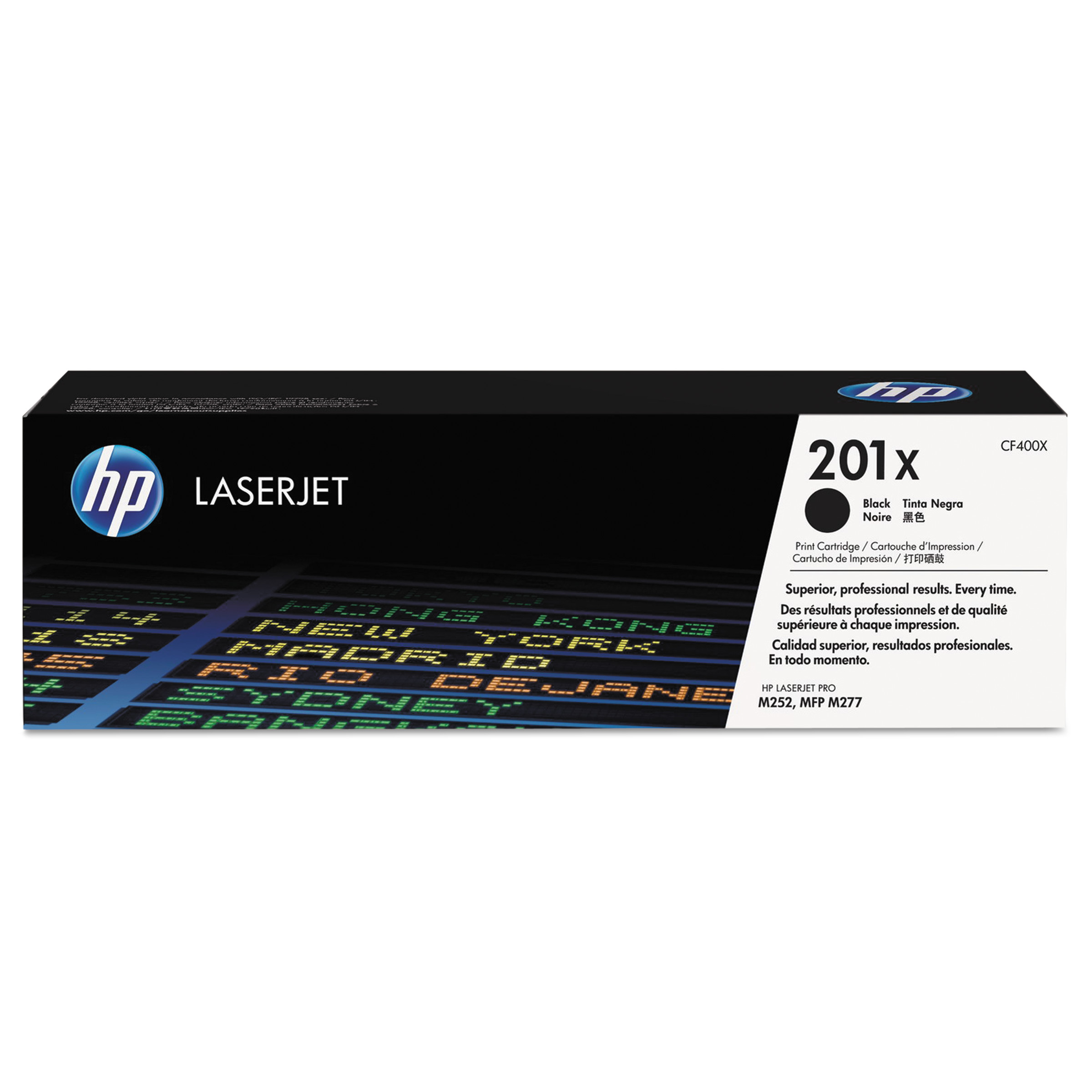 HP 201X, (CF400X) High Yield Black Original LaserJet Toner Cartridge -HEWCF400X
