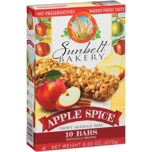 Sunbelt Bakery Apple Spice Chewy Granola Bars, 10 count, 9.5 oz