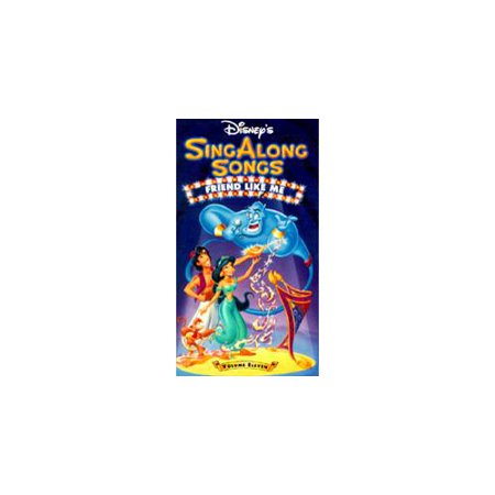 Disney Halloween Treat Vhs (Disney's Sing Along Songs - Aladdin: Friends Like Me (VHS,)