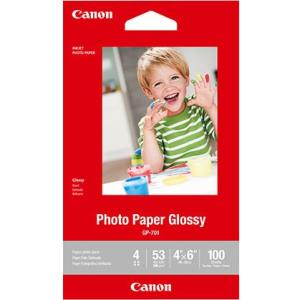 "Canon GP-701 Photo Paper Glossy (4 x 6"", 100 Sheets)"