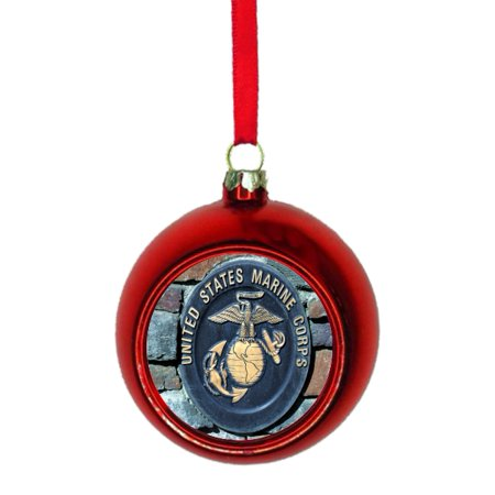 U.S. Marines - United States Marine Corps - Red Bauble Christmas Ornament (Marine Corps Ball)