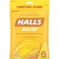 Halls Triple Soothing Action Cough Drops, Honey Lemon, 80 Ct