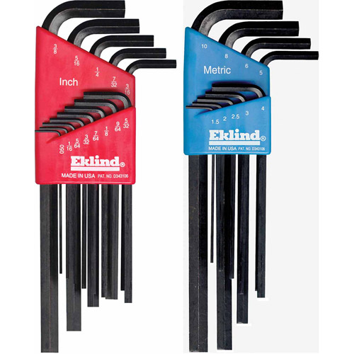 Eklind Tool 10022 22-Piece Set Standard and Metric Hex Keys