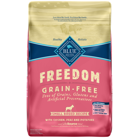 Blue Buffalo Freedom Grain Free Natural Adult Small Breed Dry Dog Food, Chicken, 11-lb