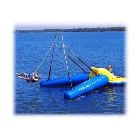 rave rope swing water trampoline attachment - 15ft