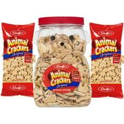 Stauffer's Original Animal Crackers Bear Jug PLUS Two 32 oz. Refill Bags