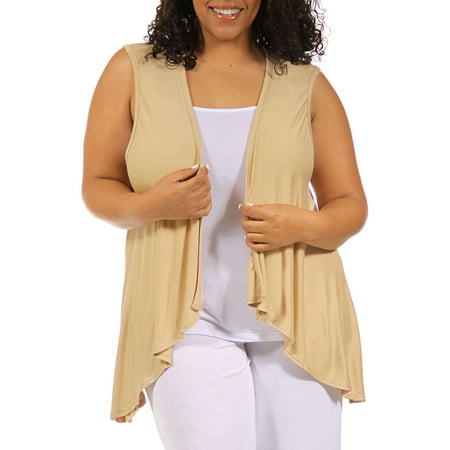 - Women's Plus Size Sleeveless Shrug