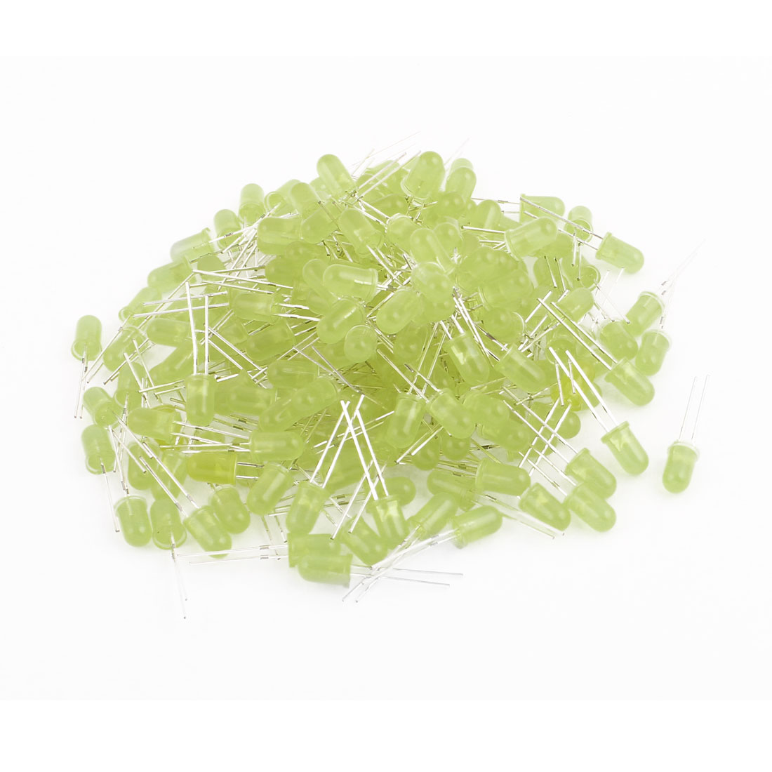 200pcs 2 Terminals Yellow Lamp Caps Emitting Diodes Yellow Light for LED Lamp