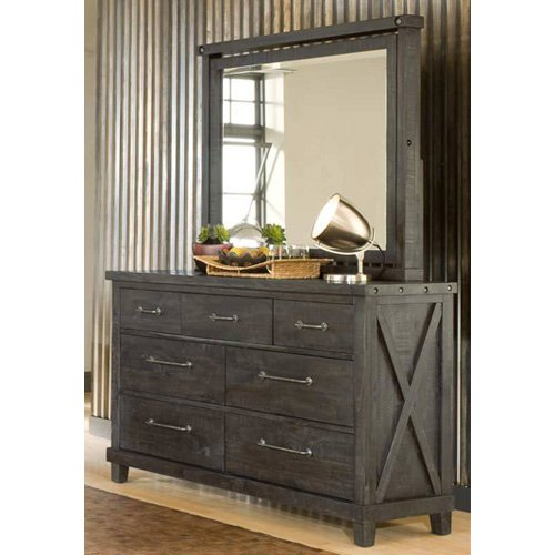 Modus Yosemite Solid Wood Dresser with Optional Mirror - Cafe