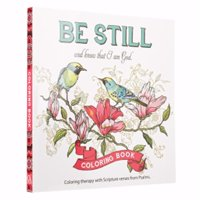 Christian Art Gifts 076300 Be Still & Know That I Am God Adult Coloring Book