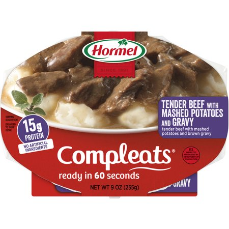 Halloween Food Meals ((6 pack) Hormel Compleats Beef Rib Tips with Mashed Potatoes and Gravy, 9)