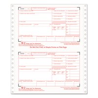 TOPS W-2 Tax Forms, 4-Part Carbonless, 8 1/2 x 5 1/2, 24 W-2s & 1 W-3