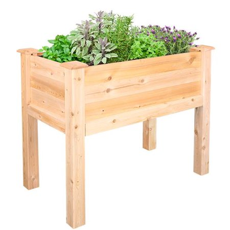 "Image of Greenes Fence 32"" L x 16"" W x 31"" H Elevated Cedar Garden Bed"